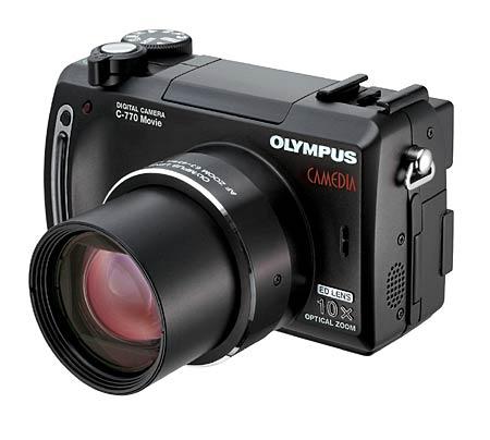 Цифровая камера Olympus C-770 Movie с функцией записи видео в формате MPEG4.