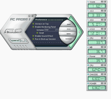 ��������� ������� ASUS PC Probe