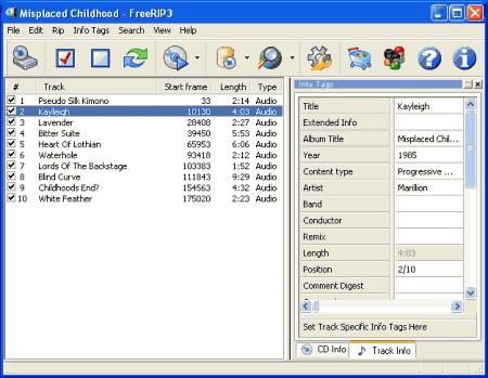 Интерфейс программы FreeRIP