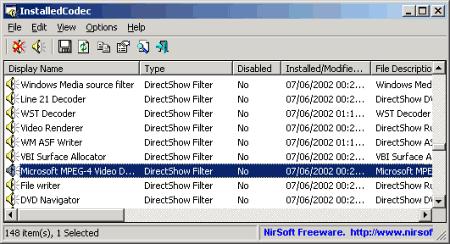 Nir Sofer.  Вышла новая бесплатная программа InstalledCodec, которая может помочь в определении того...