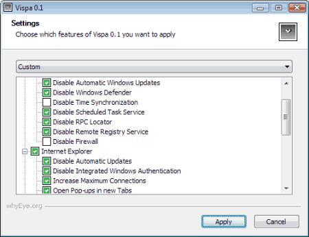 Пример интерфейса программы Vispa