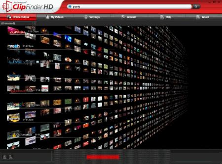 Интерфейс программы Ashampoo ClipFinder HD