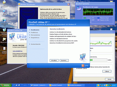 Интерфейс программы MindSoft Utilities XP