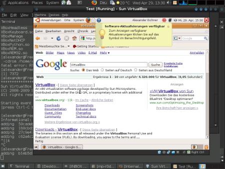 Скриншот созданной виртуальной машины