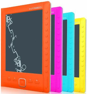 Разноцветные электронные книги intreeo
