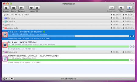 Transmission — Mac-клиент BitTorrent