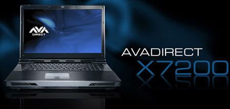 Ноутбук AVADirect Clevo X7200, оснащенный видеокартой NVIDIA GeForce GTX 48 ...