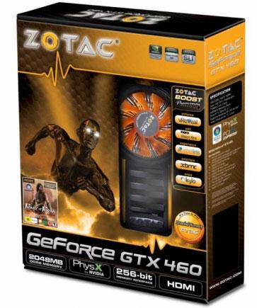 ZOTAC представила версию GeForce GTX 460 с двумя гигабайтами видеопамяти