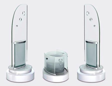 Акустическая система Greensound Frazil изготовлена из стекла