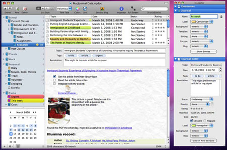MacJournal — редактор блогов для Mac