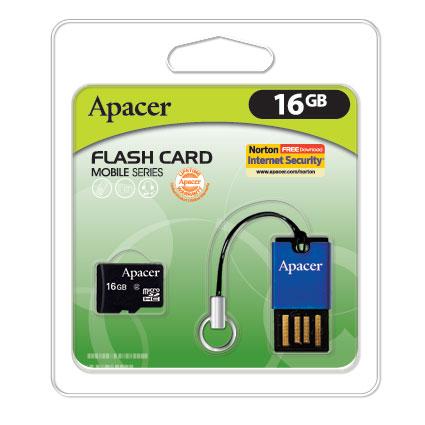 Apacer комплектует миниатюрные карты памяти миниатюрным устройством для чте ...