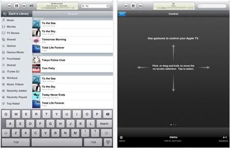Приложение Apple Remote для iPad