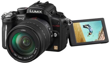 Гибридная камера Panasonic LUMIX DMC-GH2 оснащена сенсорным экраном