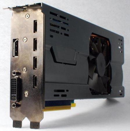Модель GeForce GTX 560 Ti имеет шесть выходов