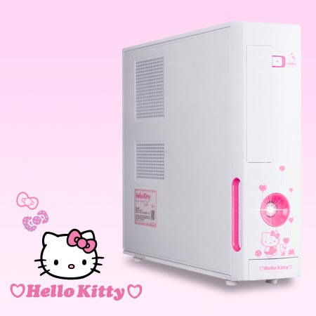 ПК в корпусе M11KT Micro ATX Hello Kitty Case