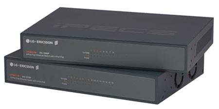 Коммутаторы Fast Ethernet LG-Ericsson USA iPECS ES-1008P (восемь портов с поддержкой PoE) и ES-1016P (16 портов)
