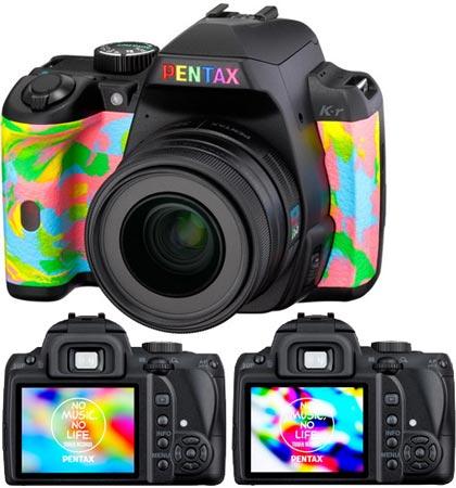 Pentax смело экспериментирует с цветовым оформлением камеры Pentax K-r