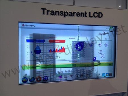 LG показала 47-дюймовый прозрачный дисплей типа IPS
