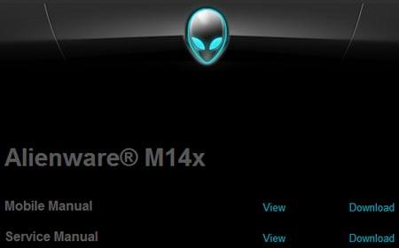 ������ ���� ������������� �� ������� �������� Alienware M14x