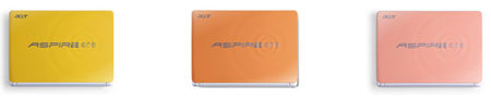 Acer Aspire One D257: цветовая гамма