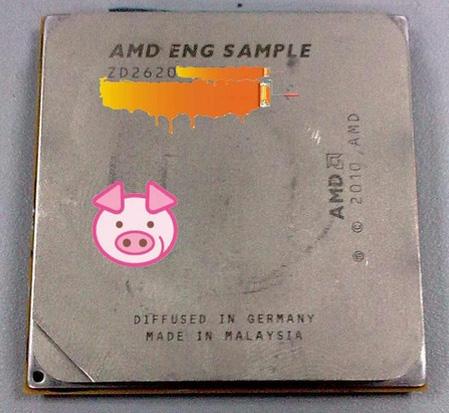 Прототип процессора AMD на архитектуре Bulldozer, вид спереди