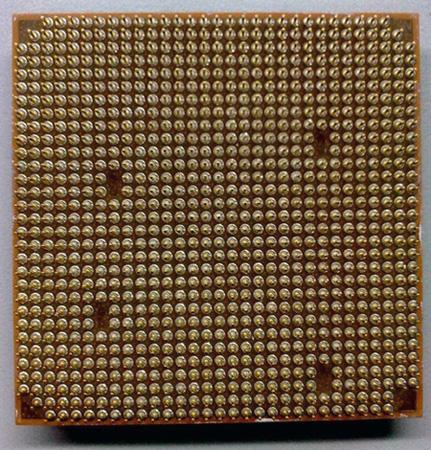 Прототип процессора AMD на архитектуре Bulldozer, вид сзади