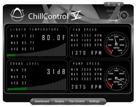 Доступ к параметрам системы осуществляется с помощью приложения ChillControl