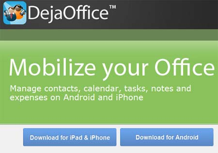 DejaOffice для Android