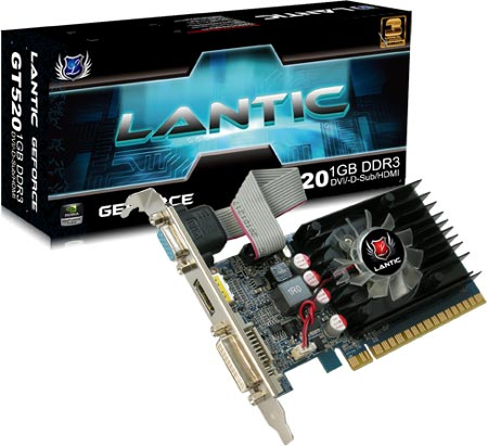 3D-карта Lantic GT520 1GB DDR3 Blade