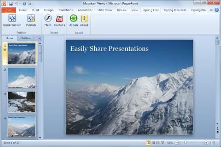 Скриншот с iSpring