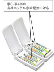 Panasonic Chargepad позволяет заряжать и блоки со стандартными батареями типоразмеров ААА и АА
