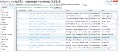Список докладов с MIX11 для загрузки