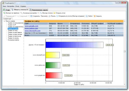 Интерфейс программы ProxyInspector