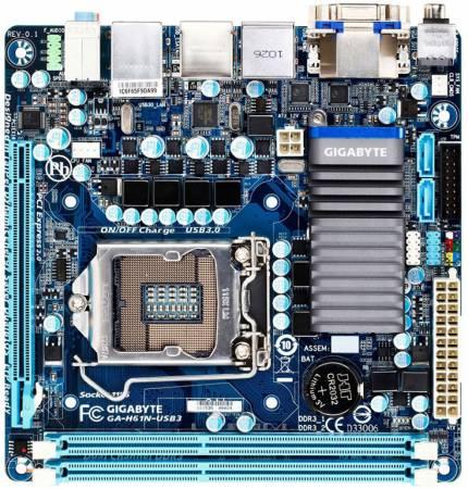 Cистемная плата GIGABYTE GA-H61N-USB3