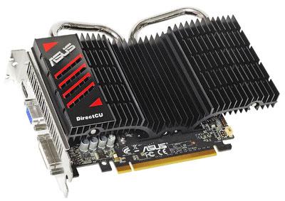ASUS EN GTS450 DirectCU оснащена пассивной системой охлаждения