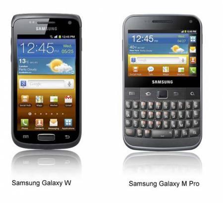 Смартфоны Samsung Galaxy W и Galaxy M Pro