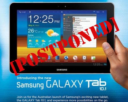 Samsung все же отменила начало продаж Galaxy Tab 10.1 в Австралии из-за Apple