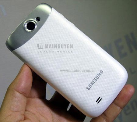 белый смартфон Samsung Galaxy W