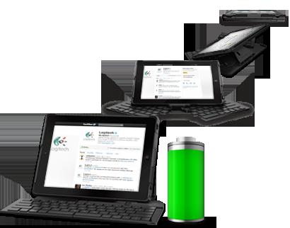 Клавиатура Logitech Fold-Up Keyboard for iPad