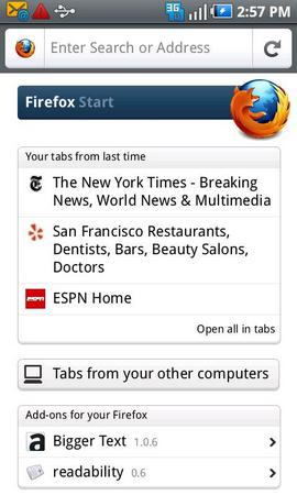 Firefox 6.0 для Android