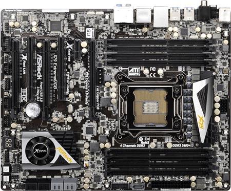 ASRock оснащает плату X79 Extreme6/GB восемью гнездами для DIMM