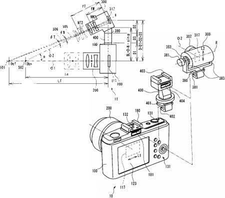 Olympus запатентовала установку в «горячий башмак» дополнительной камеры