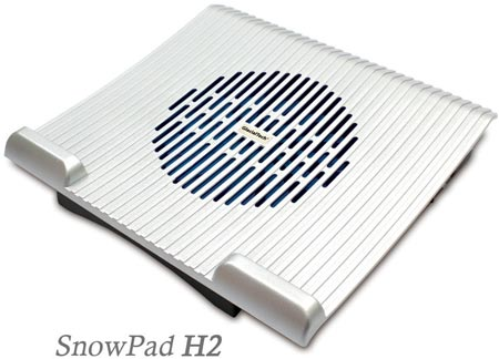 Охлаждающие подставки GlacialTech SnowPad N1 и H2 подходят для ноутбуков с экранами размером до 17 дюймов