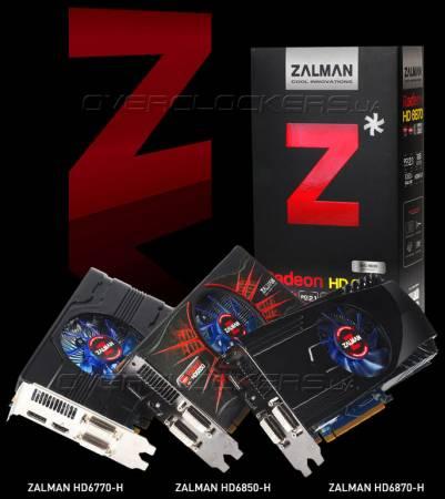 Видеокарты Zalman HD6770-H, HD6850-H и HD6870-H