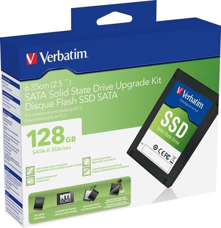 Verbatim предлагает наборы SATA-II SSD Upgrade Kit для модернизации ноутбуков