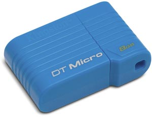 Размеры «флэшки» Kingston DataTraveler Micro равны 25,6 x 16,7 x 8,4 мм