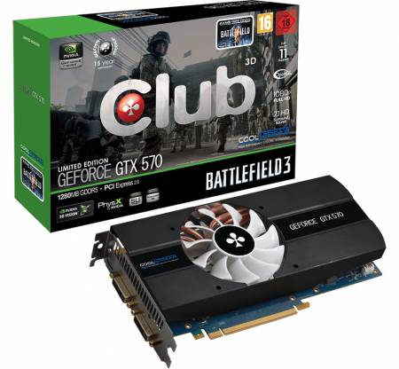 Видеокарта Club 3D GeForce GTX 570