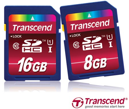 ����� ������ Transcend SDHC Class 10 UHS-I ��������� �������� �������� ������ 85 ��/�