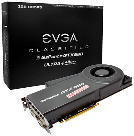 EVGA GeForce GTX 580 Classified Ultra