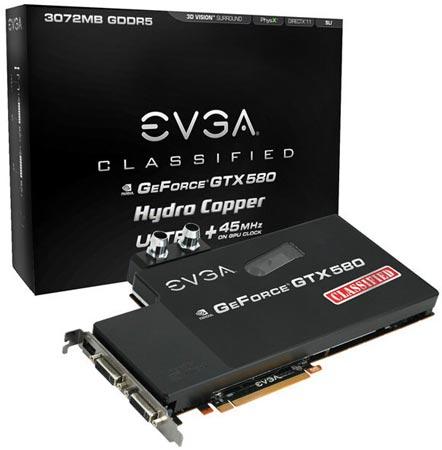 EVGA GeForce GTX 580 Classified Ultra Hydro Copper
